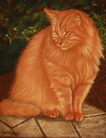 FAMOUS PET PAINTINGS: Marmalaide cat portrait-pastel